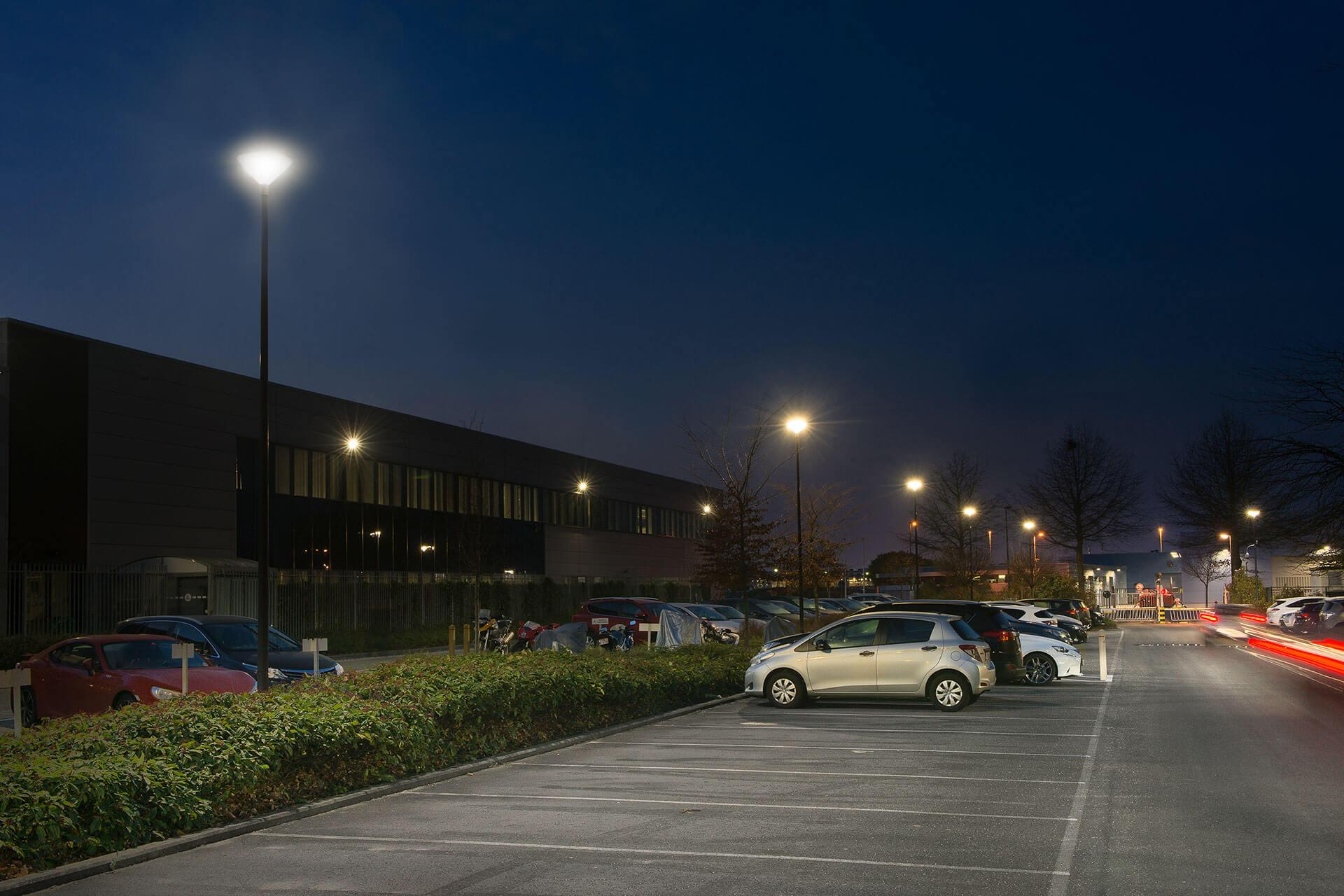 Friza led luminaire improves safety for employees and visitors with reduced energy costs