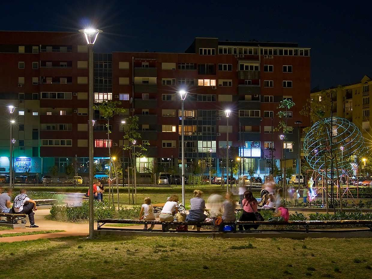 Lighting to provide more green spaces for residents and enable parks to flourish